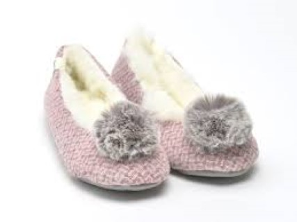 alice, pink, side, slipper, ladies, lime shoe co, berwick upon tweed