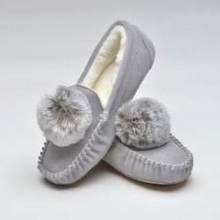 bessie, grey, ladies, slipper, lazy dogz, lime shoe co, berwick upon tweed