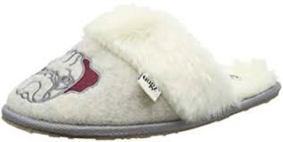 suki, grey,front, Lazy Dogz, slippers, lime shoe co, berwick upon tweed