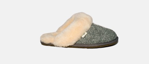 gracie herringbone lazy dogz slipper lime shoe co berwick upon tweed