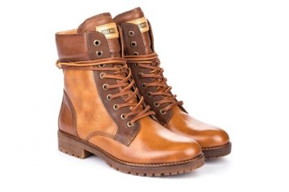 pikolinos, tan, ankle boot, lace up, side zip, lime shoe co, berwick upon tweed