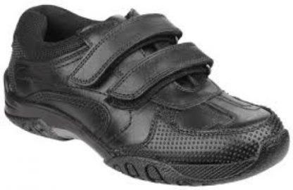 Hush Puppies Jezza Boy's School Shoe Lime Shoe Co Berwick Upon Tweed