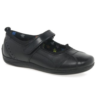 Hush Puppies Cindy Leather School Shoe Velcro Fastening Lime Shoe Co Berwick Upon tweed
