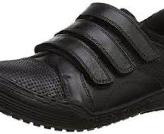 Hush Puppies Dom Leather School Shoe Velcro Fastening Lime Shoe Co Berwick Upon Tweed