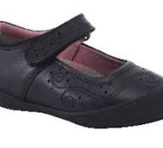 Hush Puppies Suzy School Shoe Black Lime Shoe Co Berwick Upon Tweed