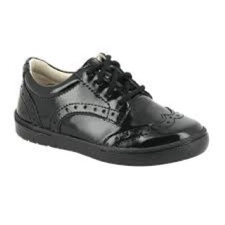 Noe Jool Patent Leather Girls Lace Up Brogue Style School Shoe Lime Shoe Co Berwick Upon Tweed