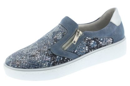 remonte-R5504-12-lime shoe co- berwick upon tweed- blue combination-loafer