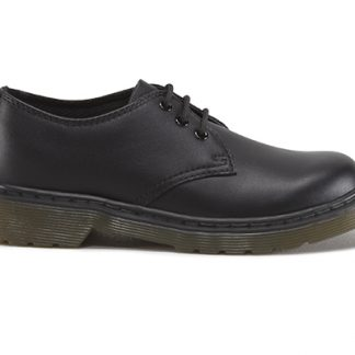 everley-dr martens-black-leather-lace up-school shoe-lime shoe co-berwick upon tweed