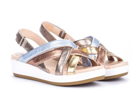 Pikolinos-mykonos-sandal-W1G-stone-wedge-velcro- fastening-sandals-leather-walking-limeshoe-co-berwick-upon-tweed