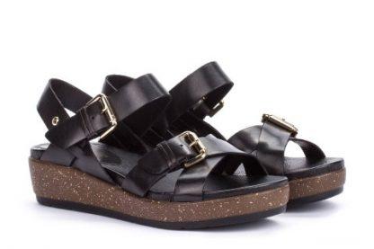 Pikolinos-mykonos-w1g-1589-black-low-wedge-sandle-leather-ladies-buckle-limeshoe-co-berwick-upon-tweed