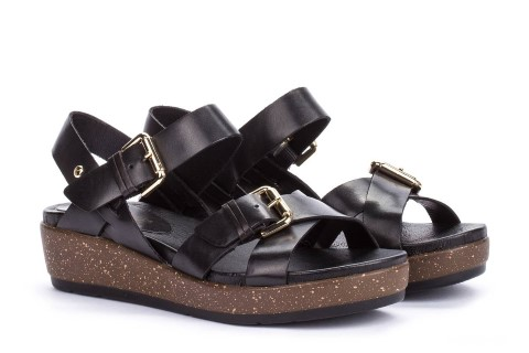 Pikolinos-mykonos-w1g-1589-black-low-wedge-sandle-leather-ladies-buckle-limeshoe-co-berwick-upon-tweed
