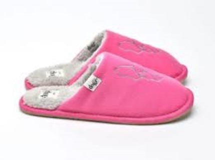 bissie-fuchsia-bulldog-design-slippers-lazy dogz-lime shoe c