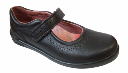 ricosta-black-leather-school-shoe-lillia-lime shoe co-berwick upon tweed