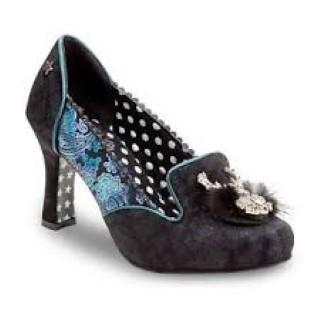 joe browns-spectacular-ladies-heel-black-shoe-deer-lime shoe co-berwick upon tweed