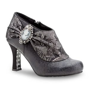 mystery shoe-joe browns-cameo-heel-shoe-boot-black-smart-fashion