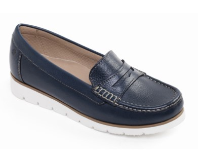 padders-nola-navy-ladies-slip on shoe-lime shoe co-berwick upon tweed
