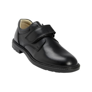 petasil-milan-single-velcro-black-leather-school-shoe-boys-lime shoe co-berwick upon tweed