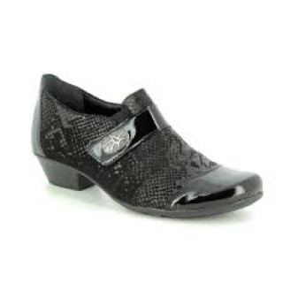 Lime shoe co-Berwick upon Tweed-Remonte-Black shoe-patent-leather