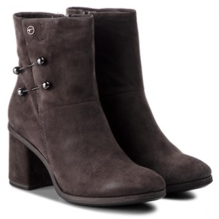 Berwick upon Tweed-Lime shoe co-Tamaris-Anthracite-ankle boot-block heel-side zip