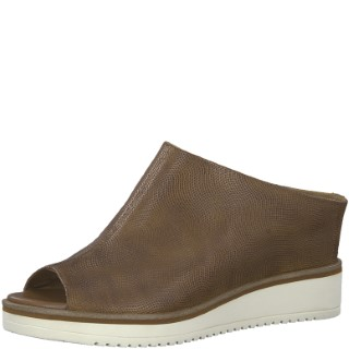 tamaris-brown-wedge-mule-lime shoe co-berwick upon tweed-tamaris-1-27200-72