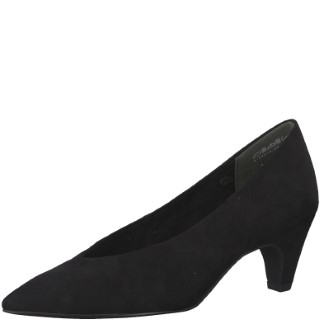 Marco Tozzi-Black-Slip on-Suede-Heel-Lime Shoe Co-Berwick upon Tweed