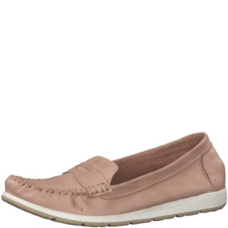 marco tozzi-2-24601-32-rose-leather-slip on-shoe-lime shoe co-berwick upon tweed