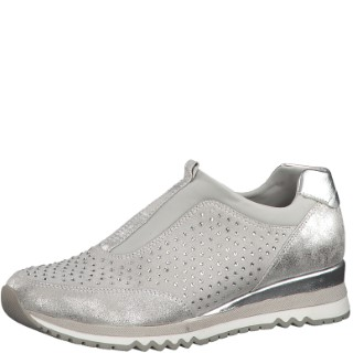 marco tozzi-ladies-light grey-trainer-stone set- 2-24710-32-limeshoeco-berwick upon tweed