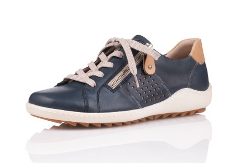 remonte-r1417-14-blue-leather-shoe-lime shoe co-berwick upon tweed