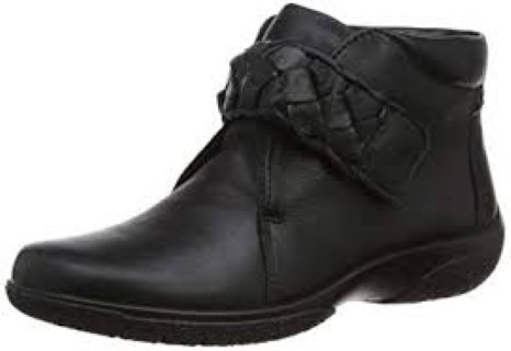 hotter-daydream-black-leather-ankle-boot-lime shoe co-berwick upon tweed
