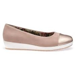 hotter-angel-powder-pink-rose-gold-wedge-sliip on shoe-liome shoe co-berwick upon tweed