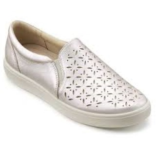 hotter-daisy-iridescent-slip on -shoe-lime shoe co-berwick upon tweed