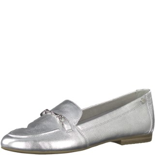 tamaris-1-24212-22-silver-loafer-ladies-shoe-lime shoe co-berwcik upon tweed