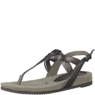 Berwick upon Tweed-Lime Shoe co-Tamaris-Sandal-Pewter-summer