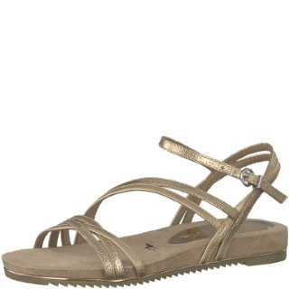 tamaris-1-28112-22-rose gold met-ladies-sandal-lime shoe co-berwick upon tweed
