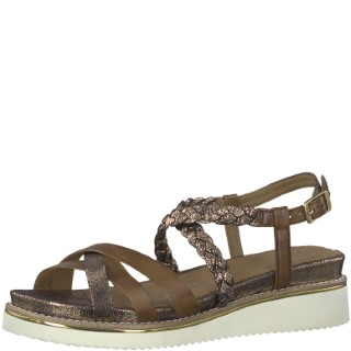 Berwick upon Tweed-Lime shoe co-Tamaris-Sandal-Leather-brown-summer