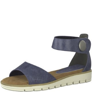 marco-tozzi-2-2-28118-22-ocean-blue-ladies-sandal-summer-lime shoe co-berwick upon tweed