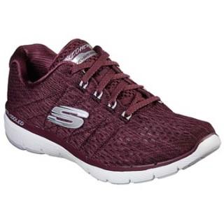 skechers-memory foam-trainer-13064-wine-lime shoe co-berwick upon tweed