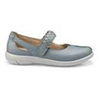 hotter-shake-light blue-leather-ladies-shoe-comfy-lime shoe co-berwick upon tweed