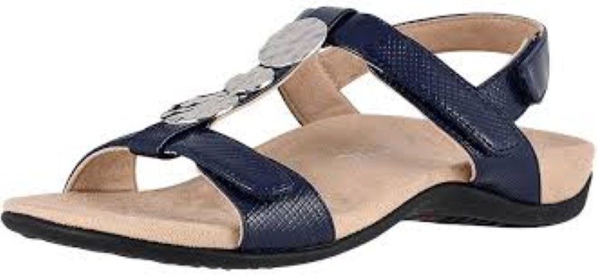 vionic-farra navy-ladies-sandal-plantar fasciitis-arch support-lime shoe co-berwick upon tweed
