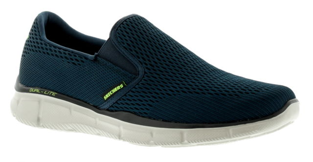skechers-2630-navy-gents-memory foam-summer-navy-lime shoe co-berwick upon tweed