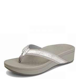 vionic-pacific-silver-sandal-lime shoe co-berwick upon tweed