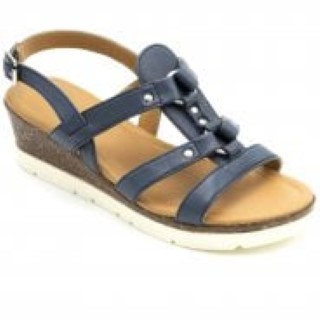 padders-heather-navy-ladies-sandal-wedge-lime shoe co-berwick upon tweed