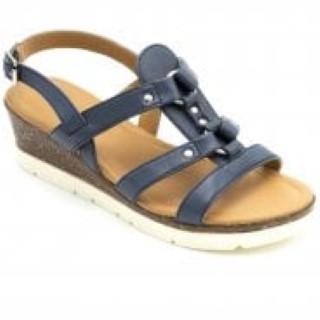 padders-heather-navy-ladies-sandal-wedge-lime shoe co-berwick upon tweed