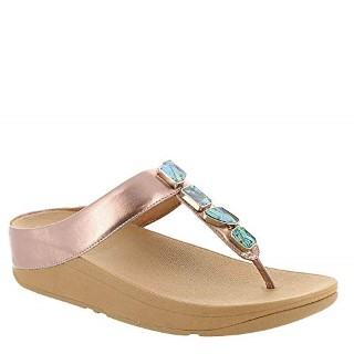 fitflop-fino-rose gold-shell stone-ladies- sandal-summer-lime shoe co-berwick upon tweed