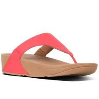 fit flop-lulu-passion red-leather-ladies-sandal-toe post-wobble board-lime shoe co