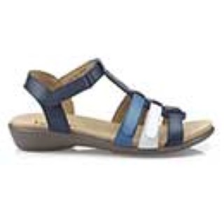 hotter-sol-royal blue-sandal-ladies-leather-lime shoe co-berwick upon tweed