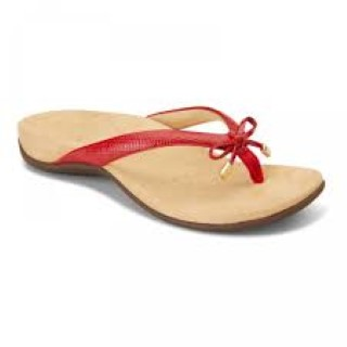 vionic-rest-bella-red-lizard-sandal-summer-heel pain-lime shoe co-berwick upon -tweed
