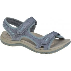 womens-frisco-frost-grey-double-velcro-strap-sandals-30231-lime shoe co-berwick upon tweed