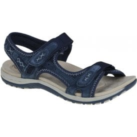 womens-frisco-navy-blue-double-velcro-strap-sandals-30233-lime shoe co-berwick upon tweed
