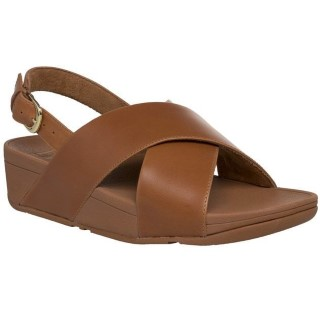 fitflop-lulu-caramel-ladies-leather-back strap-sandal-lime shoe co-berwick upon tweed